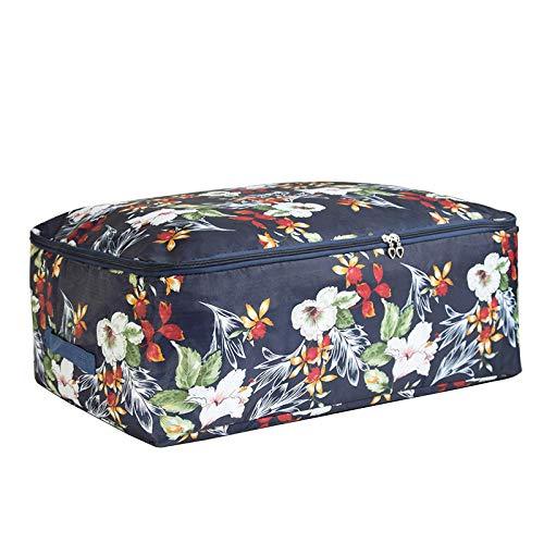 JXX Aufbewahrungstasche Floral Storage Organizer Aufbewahrungstasche Reißverschluss Paket Fall Kleidung Box-L 58 x 40 x 22 cm_zangqingfengweihua
