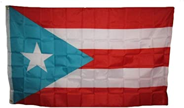 3x5 Embroidered Sewn Light Blue Puerto Rico Puerto Rican Nylon Flag 3'x5' Banner