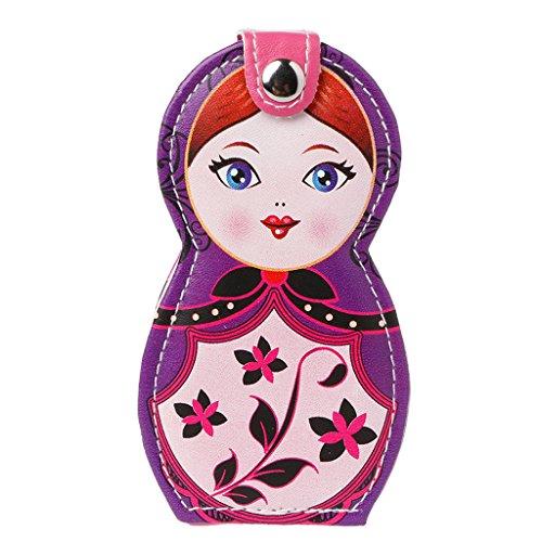 SUSHUN 6 pièces Professionnel manucure nettoyant étui cuticules Tondeuse pédicure poupées Russes Violet #11.5 * 6.5 cm