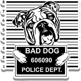 Car Truck Van SUV Window Wall Cup Laptop One 5.25 Inch Decal More Shiz Bad Dog Shih Tzu Jail Funny Cute Vinyl Decal Sticker MKS0860