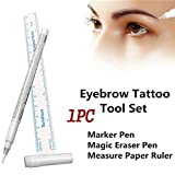 1PC Tattoo Surgical Pen Marker,White Surgical Eyebrow Tattoo Skin Marker Pen Tools Microblading Accessories Tattoo Marker Pen Permanent Makeup