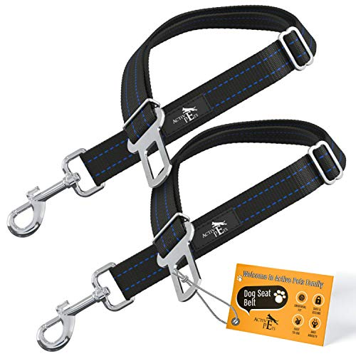 Active Pets Universal Dog Seatbelt, Dog Seatbelt Tether, Adjustable Dog Car Seat Belt, Pet Seat Belts for car. Dog Seat Belts for Small Dogs, Dog Seat Belts for Large Dogs, Dog Seat Belt for Dogs