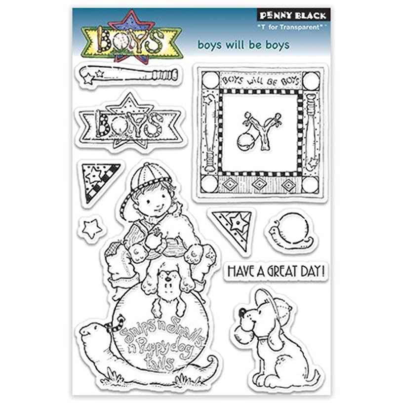 Penny Black Boys Will be Boys Transparent/Clear Stamps