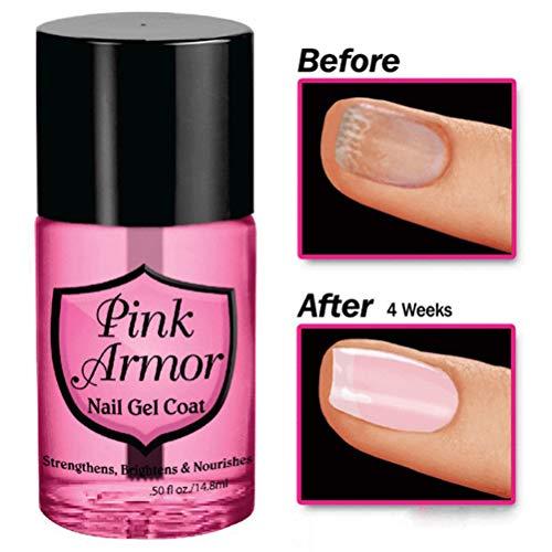 Nagellack, Pink Armor Nagel Gel Professionelles Nagelwachstum Nagel Gel Coat Fluid für den Salon zu Hause