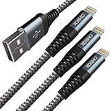 ライトニングケーブル 3M 3本セット iPhone 充電ケーブル USB Lightning ケーブル iPhone 11 X Xs Xs Max Xr 8 Plus 8 7 Plus 7 6s Plus 6s 6 Plus 6 iPad Air iPad mini 対応