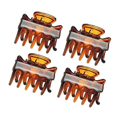 30 PCS Clyhon Mini pinza de agarre de 3 cm Pinza de pelo de araña de pulpo (marrón)