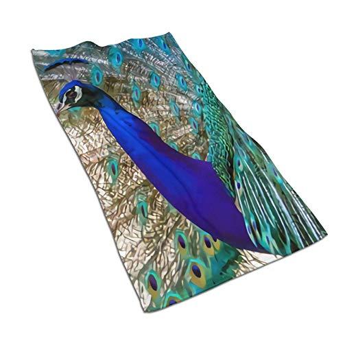 WH-CLA Pool Towel Hermoso Azul Cobalto Turquesa Pavo Real Toallas De Baño Duraderas Brillantes Toalla De Piscina Toalla De Playa Unisex 80X130 Cm Suave Reutilizable De Secado Rápido Prem