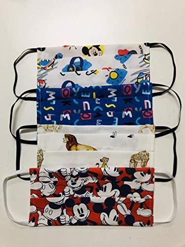 Tina Codazzo Home Mickey Mouse Mascherine in cotone set 4 pezzi Disney maschietto
