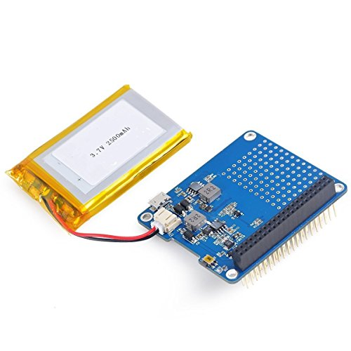 DollaTek UPS HAT mit Akku für Raspberry Pi 3 Modell B / 2B / B + | Batterie-Adapter | Stromquelle Pi 3