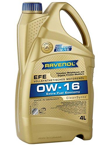 RAVENOL EFE SAE 0W-16 / 0W16 Vollsynthetisches Motoröl (4 Liter)