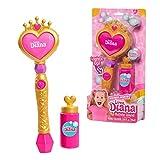 Famosa - Varita de Burbujas de Love Diana, con luz, se Ilumina al apretar el botón y hace burbujas, juguete para hacer pompas de jabón, niñas y niños mayores de 3 años (LVE02000)
