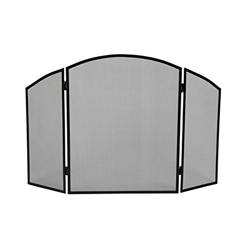 VELLEMAN BB50110 - Parascintille per camino, 94 x 61 cm, in metallo, colore: nero 177253.