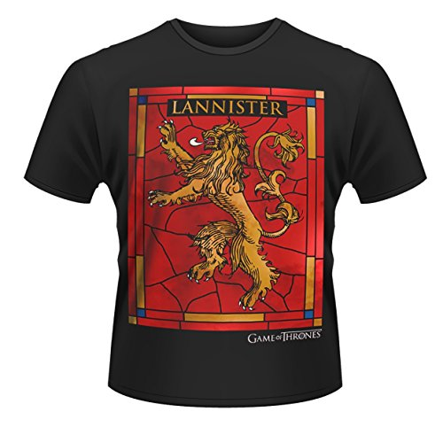 Plastic Head Game of Thrones House Lannister T-Shirt, Noir, S Homme