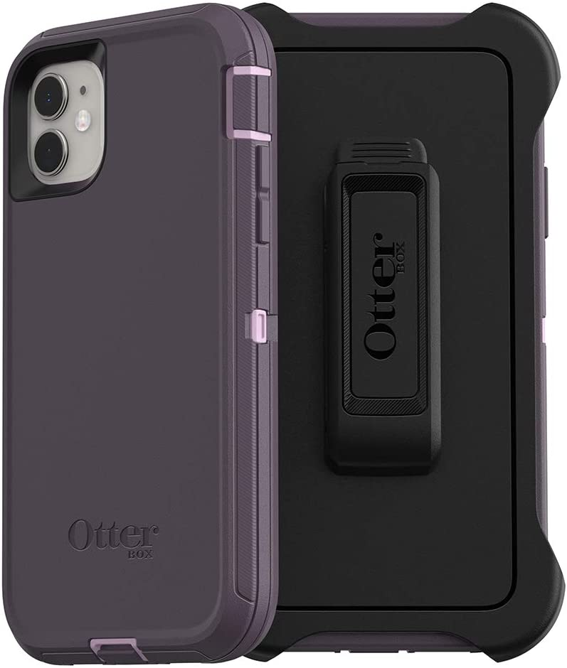 OtterBox DEFENDER SERIES SCREENLESS EDITION Case for iPhone 11 - PURPLE NEBULA (WINSOME ORCHID/NIGHT PURPLE)