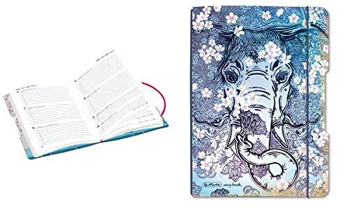 Herlitz Schülerkalender Flex Elefant 2019/20, A5, Kalender und Notizheft im Wechselcover, 1 Stück