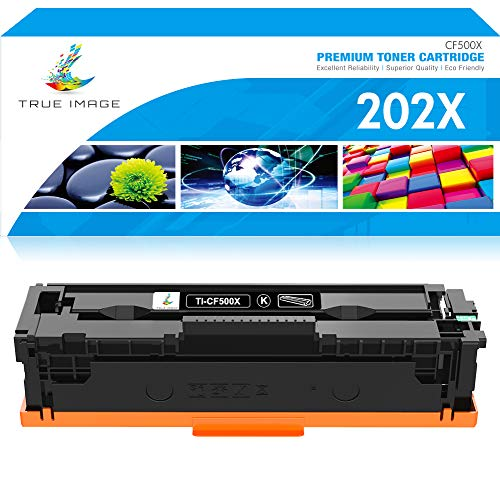 True Image Compatible Toner Cartridge Replacement for HP 202X CF500X 202A CF500A Color Laserjet Pro M281fdw M281cdw M254dw M280nw M254nw M281fdn MFP M281 M254 Ink Printer (Black, 1-Pack)
