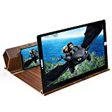 12' Screen Magnifier for Smartphones-3D HD Magnifing Projector Screen Enlarger for Movies, Videos and Gaming – Foldable Phone Stand Holder with Screen Amplifier–Compatible with All Cell Phone (Beige)