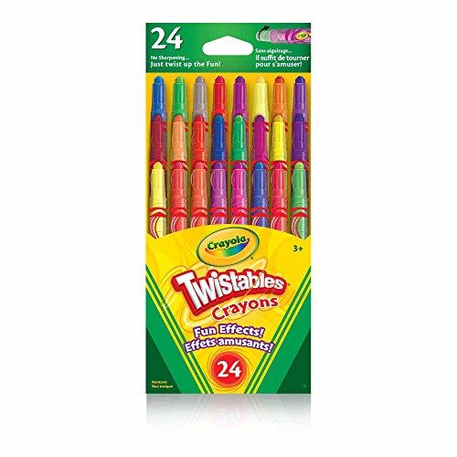 KS Crayola 24 Mini Twistables Fun Effects