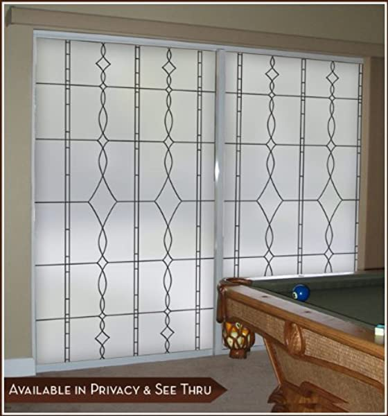 Allure Leaded Glass Black Privacy Static Cling Window Film 24 In X 48 In