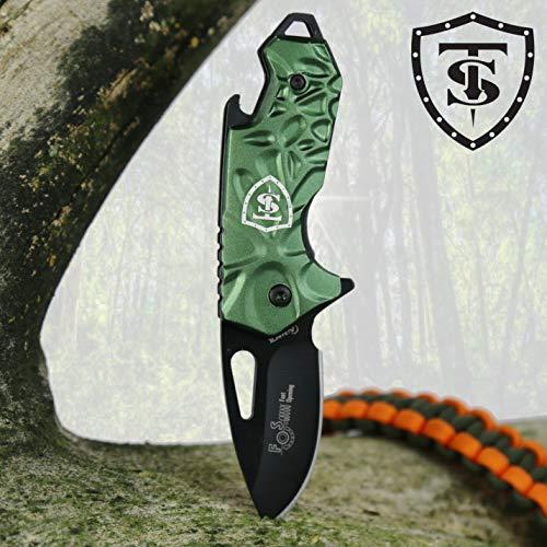 TS Messer | Mini BOINA Klappmesser Assistiertes Taschenmesser für Männer und Frauen | 5cm Edelstahlklinge | Überlebensmesser, zum Angeln, Wandern, Camping