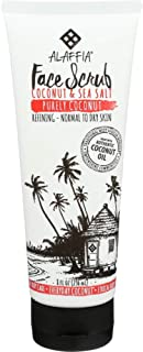 ALAFFIA EVERYDAY COCONUT FACE SCRUB - For All Skin Types, Daily Exfoliation to Support Smooth, Soft, and Deeply Cleansed Skin with Sunflower and Coconut Oils, Fair Trade, Purely Coconut, 8 Ounces