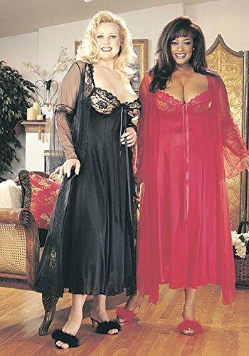 Shirley of Hollywood Größe 1x schwarz lange Gewand 2-teilig