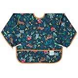 Bumkins Babero con manga, babero para bebé, impermeable, lavable, resistente a las manchas y los olores, 6 – 24 meses, selva