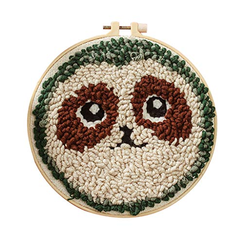 AQ89 Bamboo Embroidery Stretch DIY Poke Embroidery Handmade Self-Embroidery Kit Set Wool Embroidery Home & Garden Home Textiles