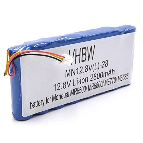 vhbw Li-Ion Akku 2800mAh (12.8V) für Saugroboter Home Cleaner Heimroboter Moneual ME770, ME770 Style, MEG7000MS, MR6500, MR6550, MR6800, MR7700