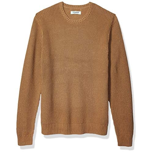 Amazon Brand – Goodthreads Men's Soft Cotton Rib Stitch Crewneck Long Sleeve Sweatshirt