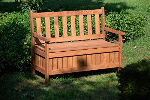 dobar Gartenbank Massive mit Lehne 2-Sitzer aus FSC Holz, 115x58x89cm, braun - 4