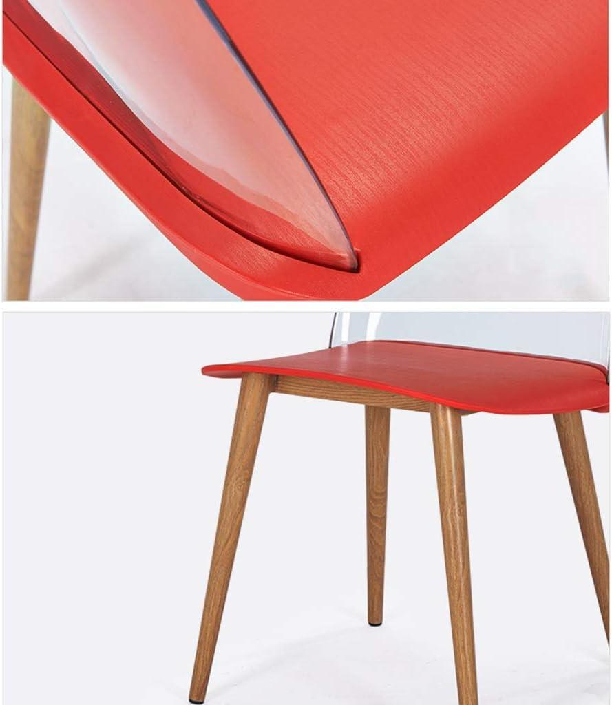 Lightyears Accueil Canapé Chaise Chaise De Bureau Chaise Arrière Chaise Nordique Table Basse Et Chaise (Huit Couleurs, Taille: 44 * 41 * 77cm) (Couleur : H) E