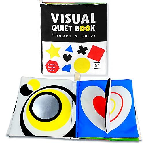 Richgv Libro para Bebé 0-12 Meses Juguetes educativos Libros Blandos Libro Texturas Libro Sensorial para Bebé Libro de Tela Bebé Aprendizaje y Educativo Libro Activity bebé Recién Nacido Niños(Forma)