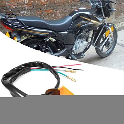 Mango Botón de luz Conector de botón Interruptores de botón prácticos para bicicleta ATV(Orange)