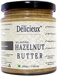 Délicieux Keto Vegan Diet All Natural Stone Ground Hazelnut Butter-200 G