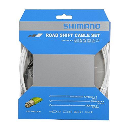 Shimano OPTISLICK Schaltzug-Set Road weiß 2016 Schaltzug/-hülle