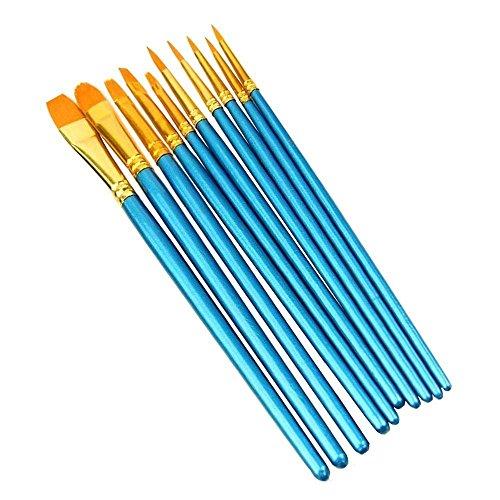 Pechon 10 pezzi Set di pennelli Art Painting Supplies per acrilico acquerello e pittura a olio Rotondo Punta