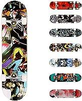 WeSkate Completo Skateboard per Principianti, 80 x 20 cm 7 Strati di Acero Double Kick Deck Concavo Skate Board per...