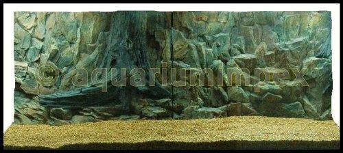 3D Aquarien Rückwand 150x50 Fels mit Wurzel 2TLG.