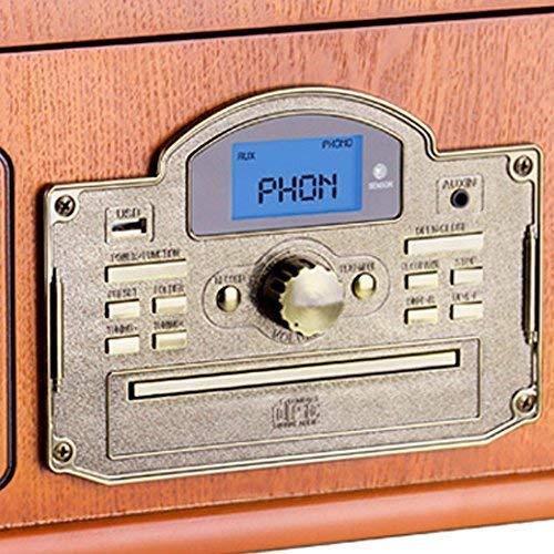 Lauson CL146 Platine Vinyle Bluetooth USB mp3 et Fonction Encodage Classique Lecteur CD Bois avec CD...