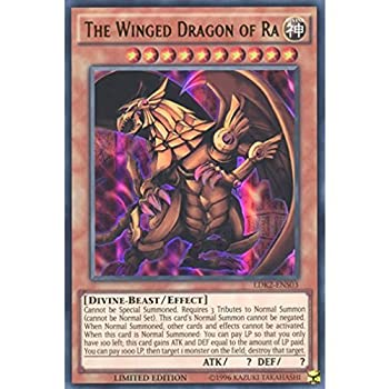 YuGiOh   LDK2-ENS03 Limited Ed The Winged Dragon of Ra Ultra Rare Card -   Yu-Gi-Oh! Single Card   by Deckboosters