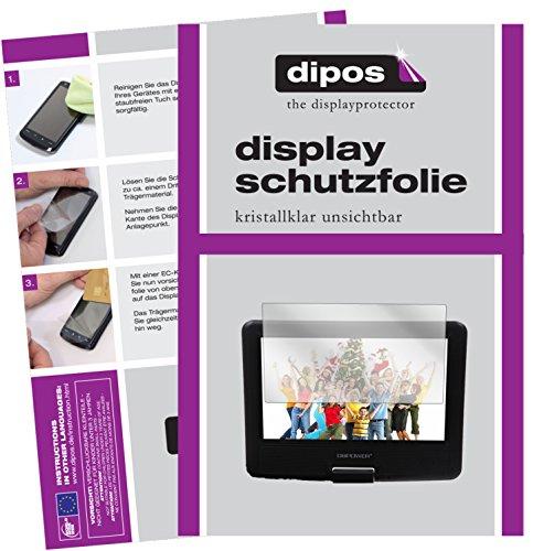 dipos I 3X Schutzfolie klar kompatibel mit DBPower 9,5 Zoll Tragbarer DVD-Player Folie Displayschutzfolie