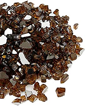 10 Pounds 1/2 Inch Fire Pit Fireplace Glass Fire Glass High Luster Tempered Fireglass  Rich Copper Reflective