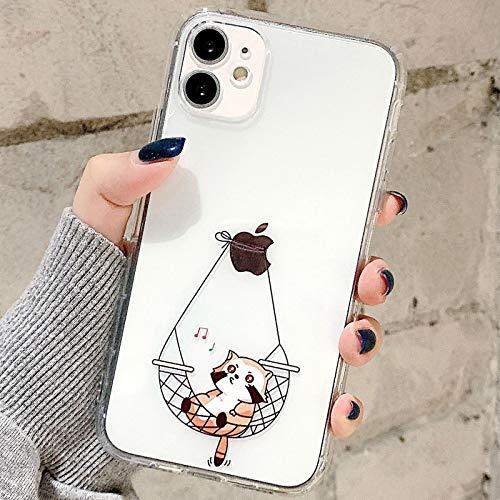 Tybiky Funda para iPhone Xr fundas de diseño creativo de gato cojín de aire funda ultra fina silicona Airbag funda Bumper Chic Bling resistente a arañazos Cover para Apple iPhone Xr hamaca