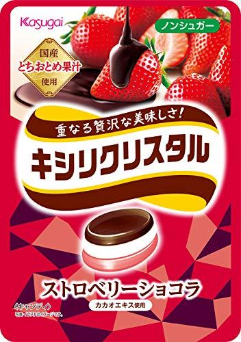 春日井製菓 キシリクリスタル ストロベリーショコラ 67g×4袋