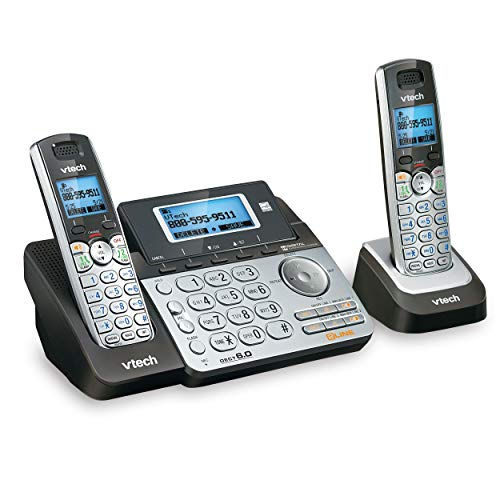VTech DS6151-2 2 Handset 2-Line Cordless Phone System for Home or Small Business with Digital Answering System & Mailbox on Each line, Silver (Renewed)