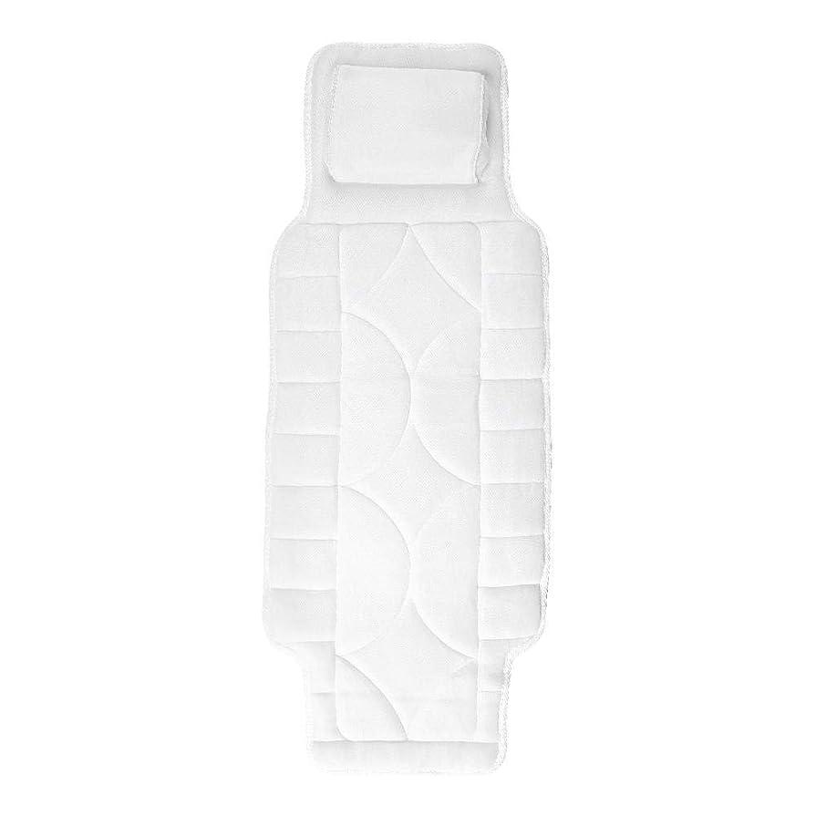 カテナ交通拒否浴槽枕、10首サクションカップ付き全身スパ浴室枕マット頭首の背骨をサポートするための浴槽マット