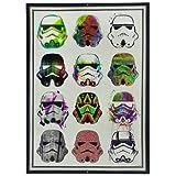 なまけ者雑貨屋 Star Wars Stormtroopers Watercolors ブリキ看板ヴィンテージメタルパブクラブカフェバーホームウォールアート装飾ポスターレトロ40x30cm