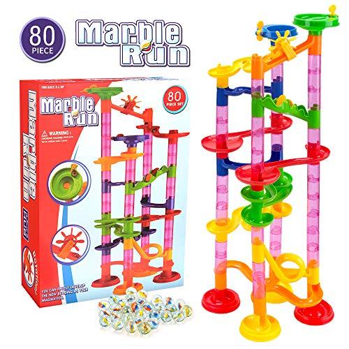 Juguete para niños de 3-9 años Niños, Marble Run Building Block Juguetes para niños Niñas Edad 4-12 Niños Juego de Laberinto de canicas de mármol Juego de Aprendizaje para 5 6 7 8 años Niños pequeños