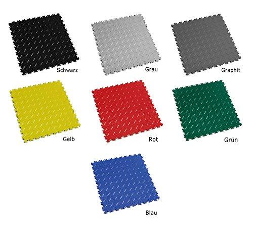 Fortelock® Vinyl Bodenfliese 2010 Hohe Belastbarkeit Diamant (Graphit)